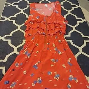 Red frilly summer dress